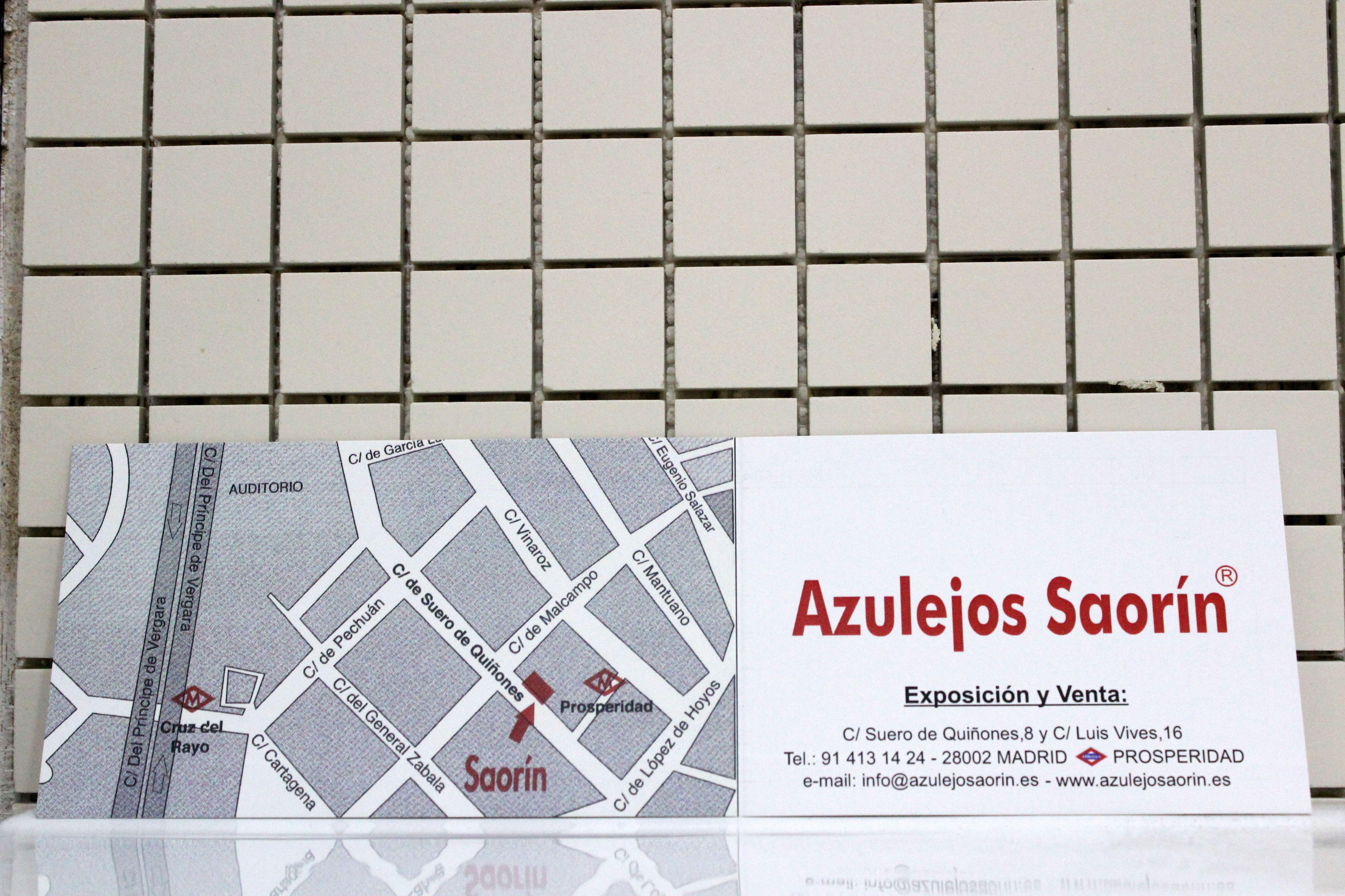 Foto 10 de Azulejos, pavimentos y baldosas cerámicas en Madrid | Azulejos Saorín