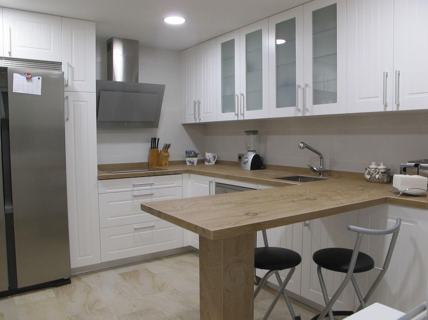 Muebles de cocina proyecto realizado en boadilla for Proyecto muebles de cocina