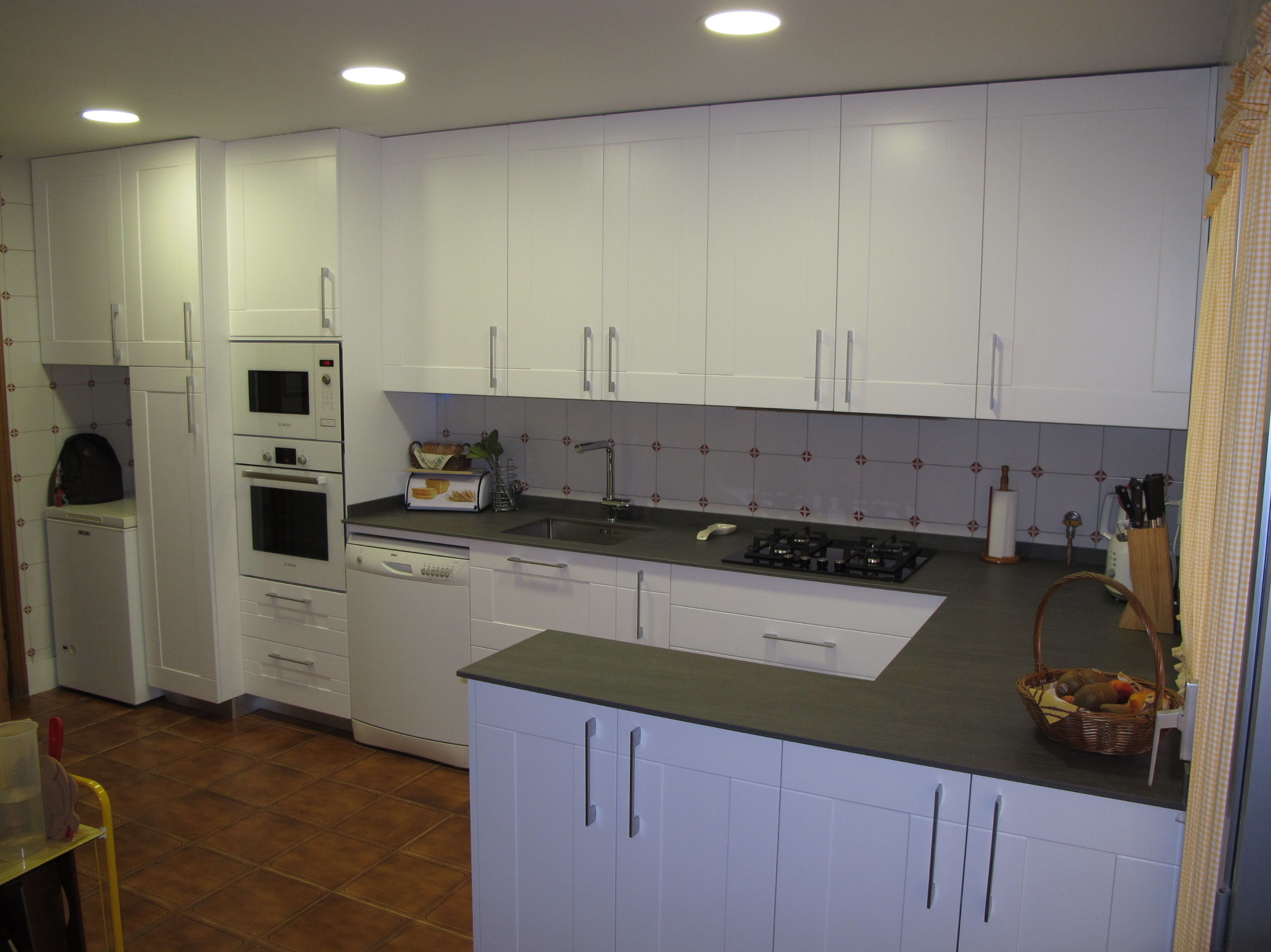 Diseo muebles cocina finest de cocina placares interiores - Muebles cocina blanco ...