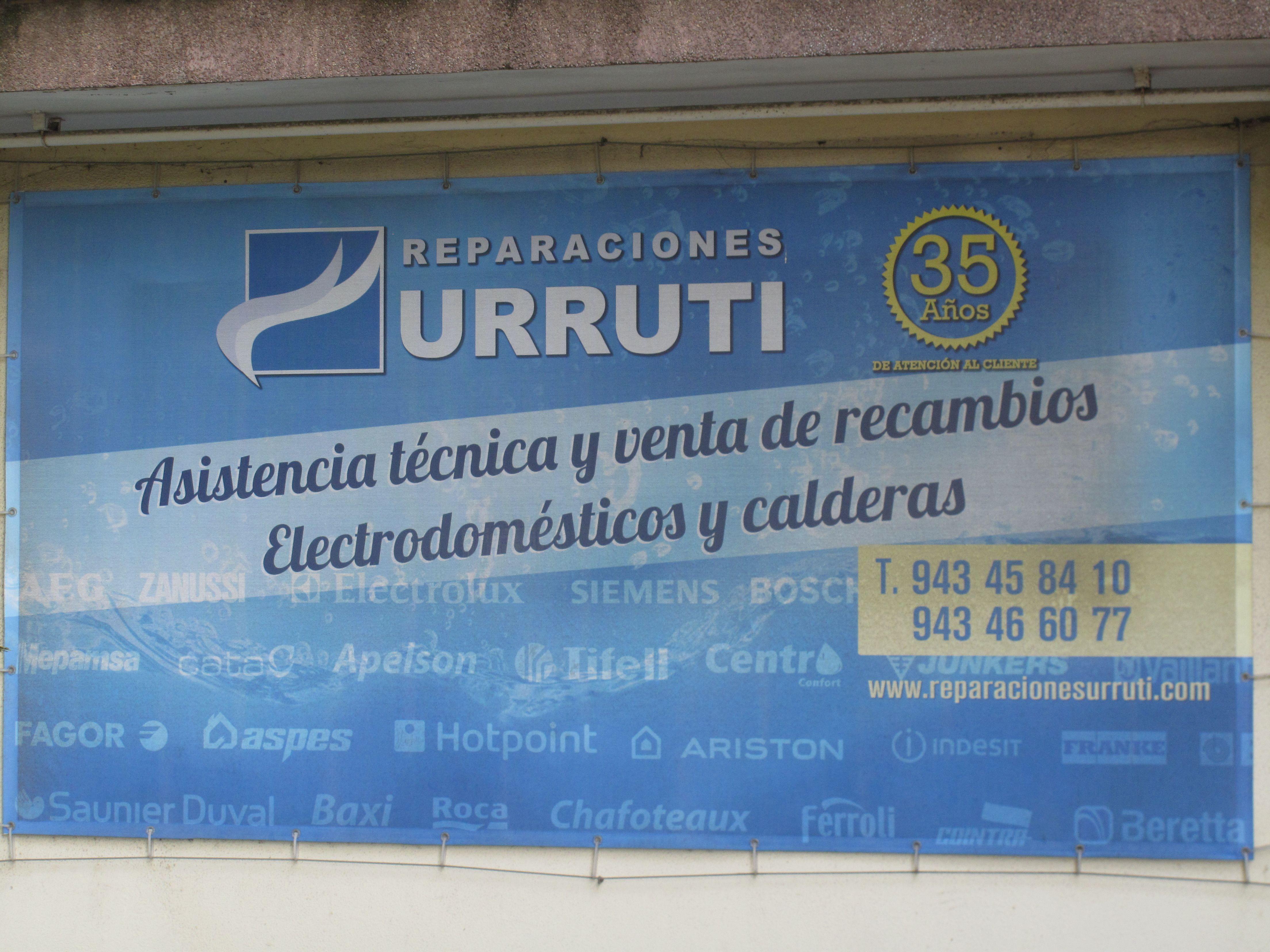 Rótulo Reparaciones Urruti