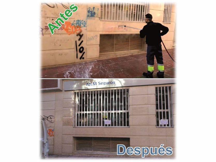 Limpieza de grafitis en Madrid
