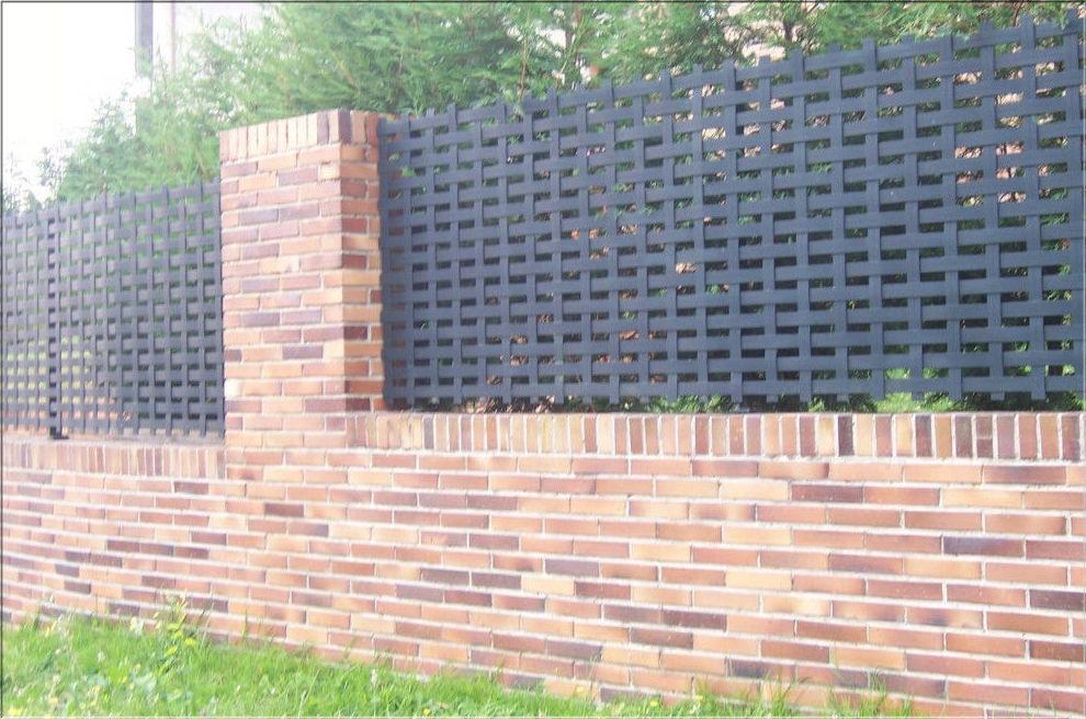 Panel trenzado tipo cesto