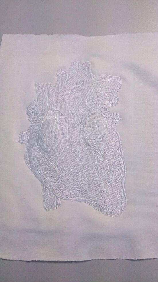 Corazón bordado!!!!