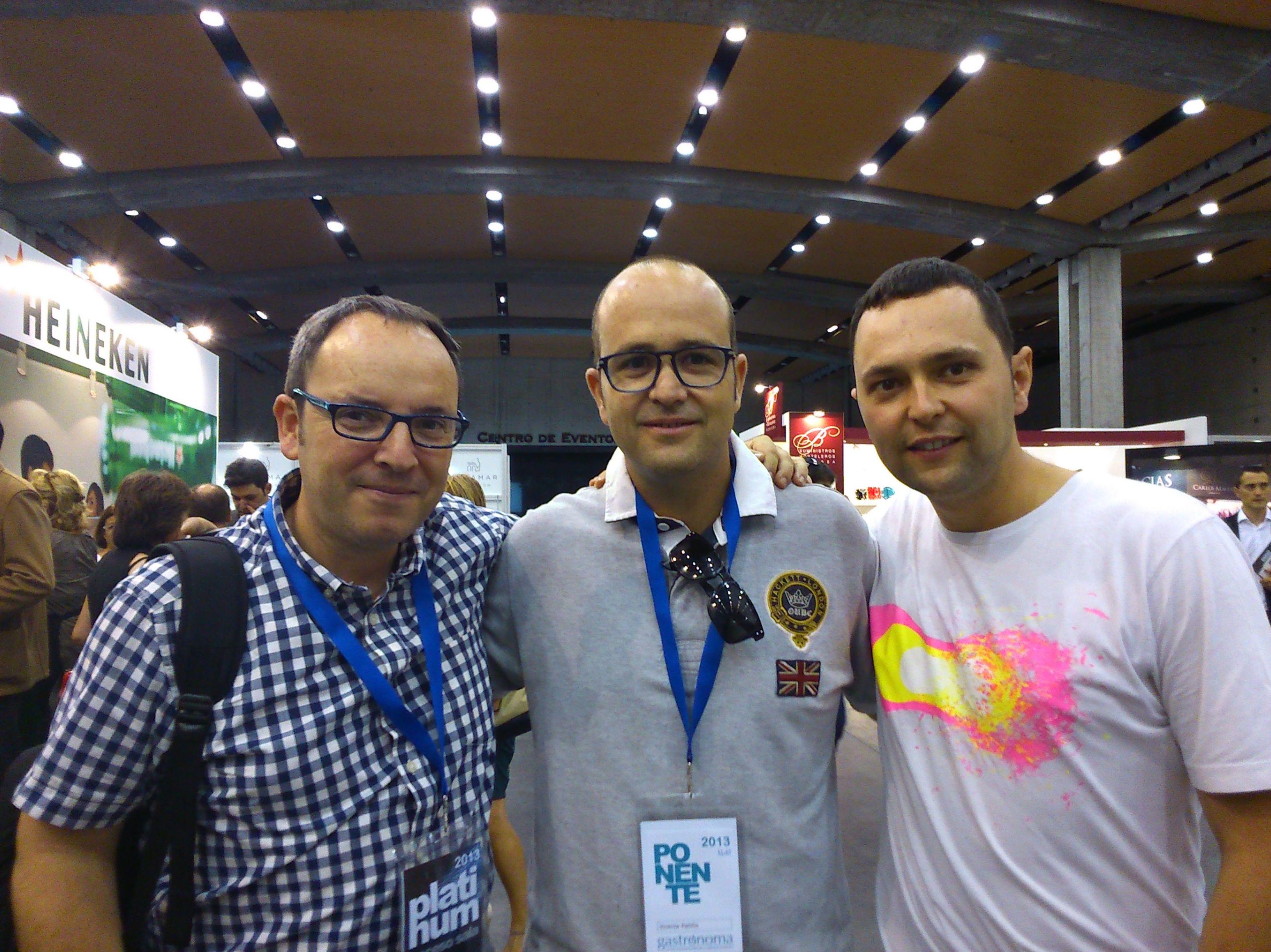 Nacho UNIPRO, Vicente Patiño y Rubén Alvarez