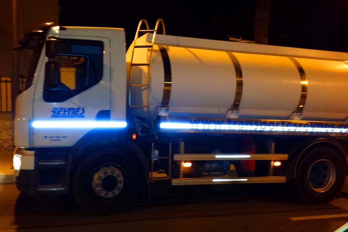 Transporte de agua en Baleares