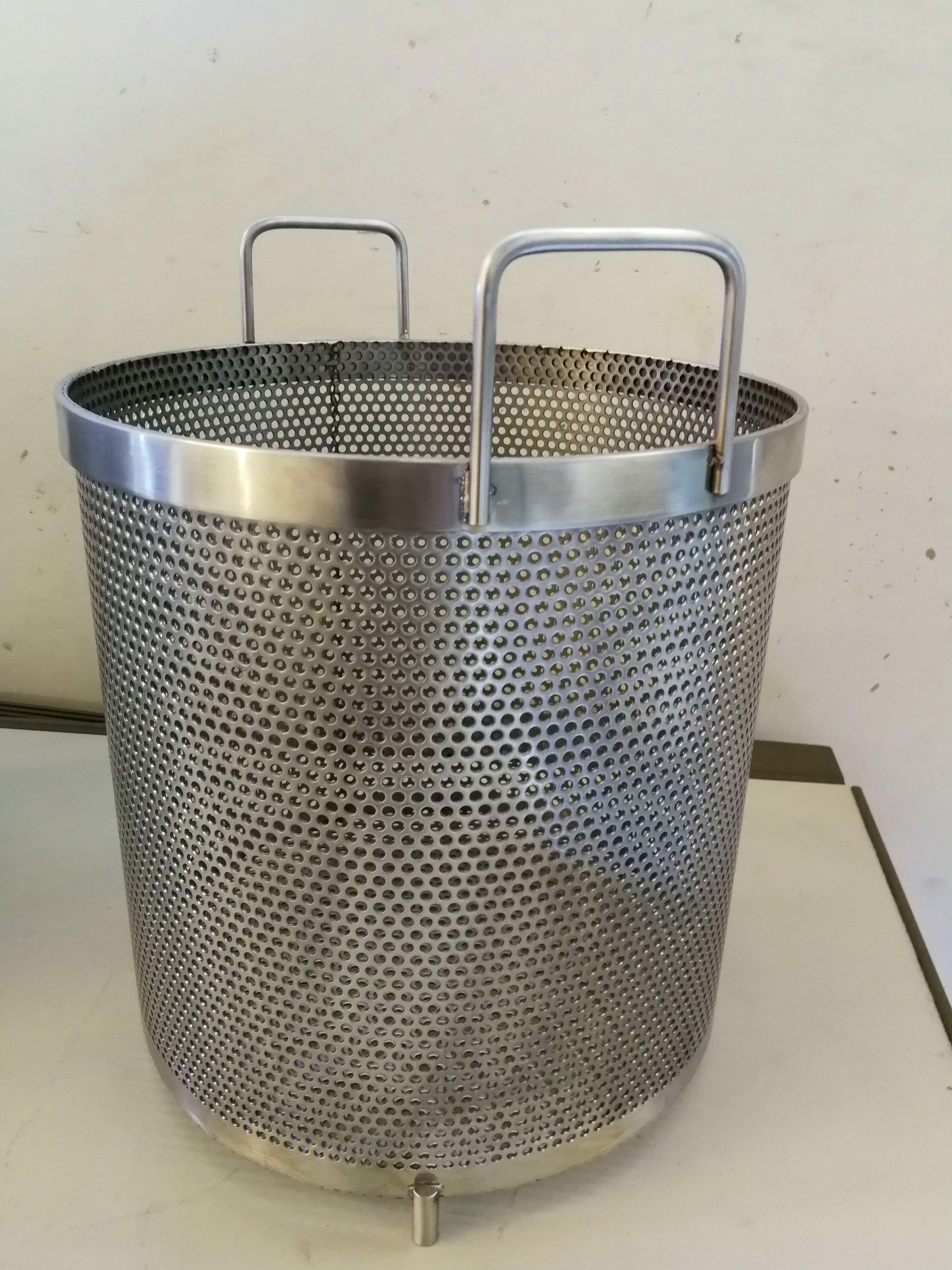 Cestillo de acero inoxidable para cocedero de marisco