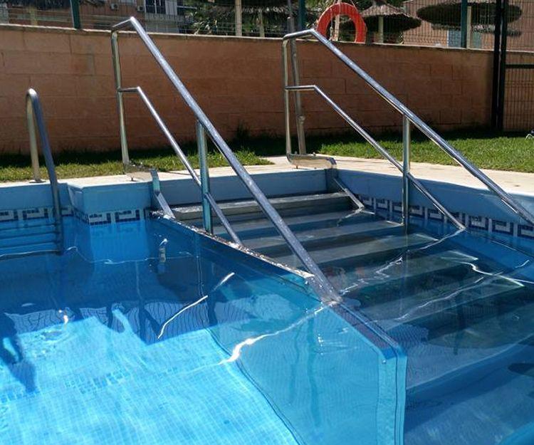 Barandilla para piscina de acero inoxidable