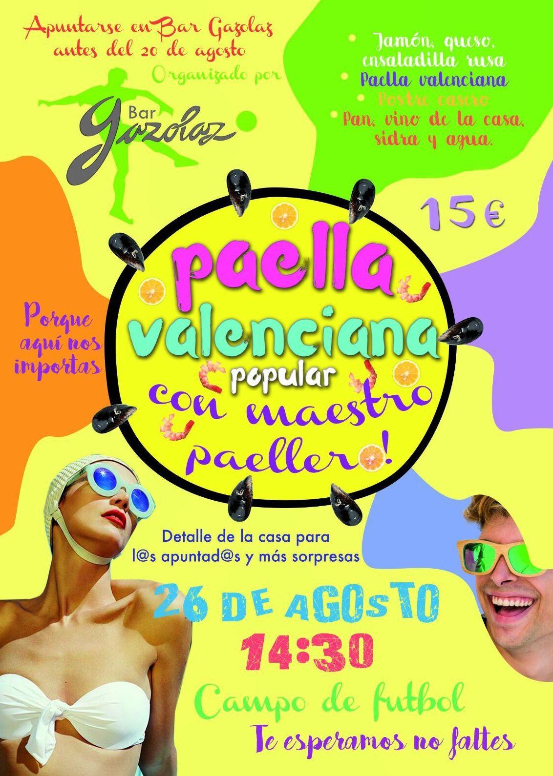 Paella valenciana popular