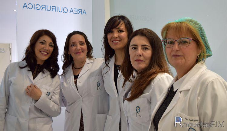 Equipo de nuestra clínica de ginecología en Roquetas de Mar