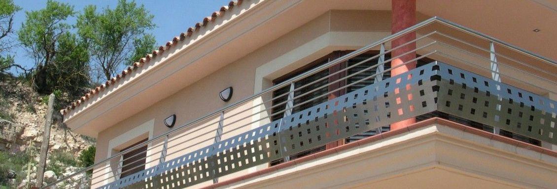 Barandillas de acero inoxidable para terraza