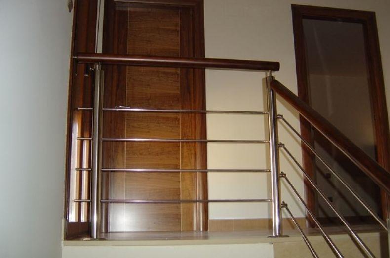 Barandilla para escalera de acero inoxidable
