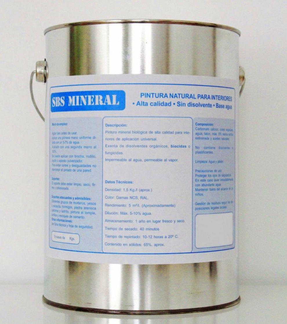 SBS mineral pintura de interior: Productos de Ecokenzai