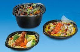 Envases plastico negros comida