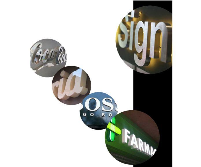 Letras corpóreas una opción versátil para la rotulación