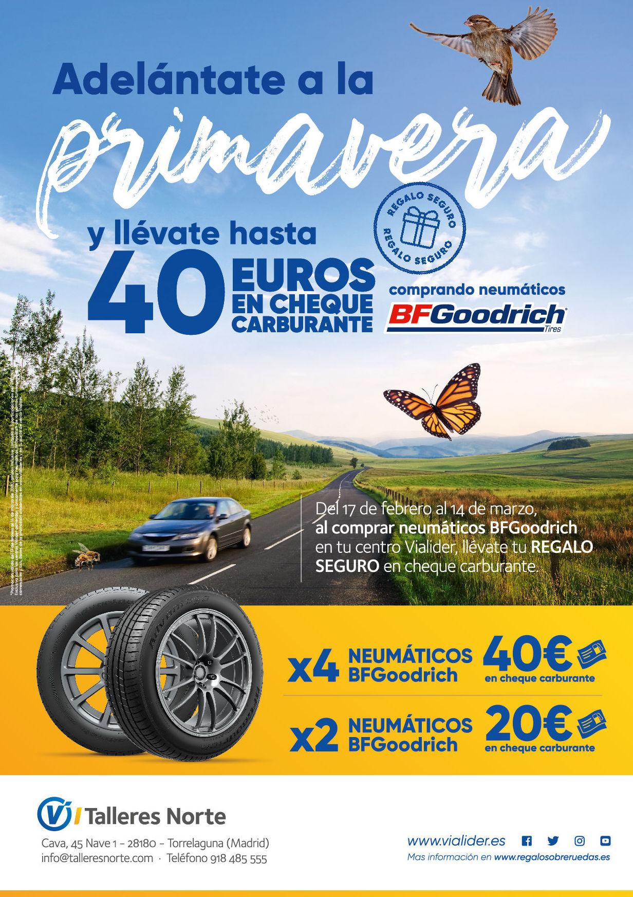 Promoción de neumáticos en Torrelaguna. Talleres Norte