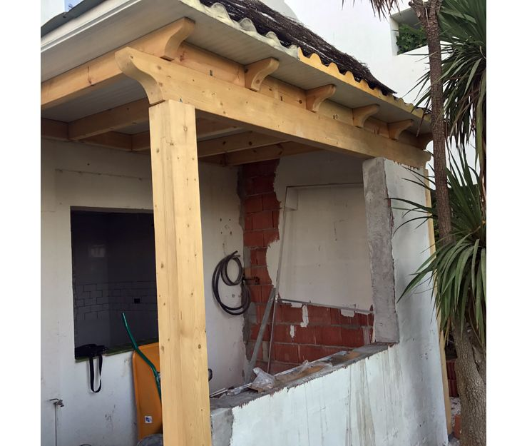 Construcción de porches en Málaga