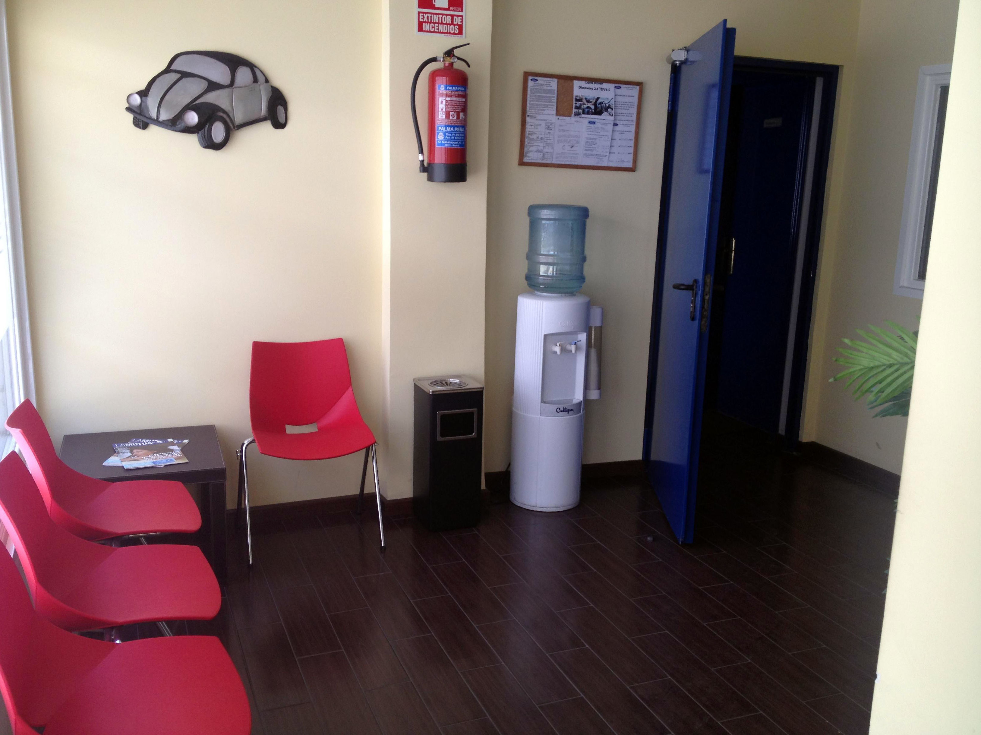 Sala de espera para clientes