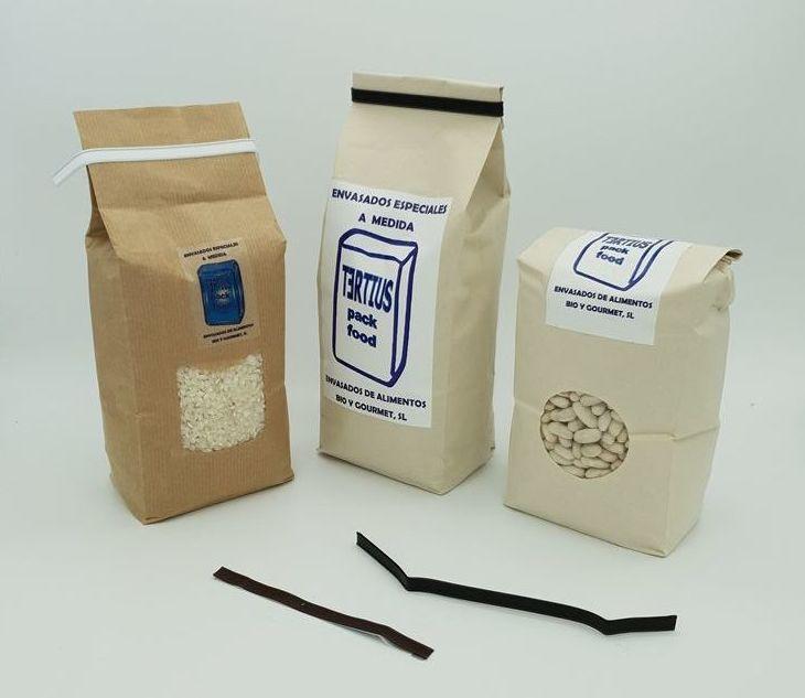 Envasado en bolsa preformada de diferentes tamaños