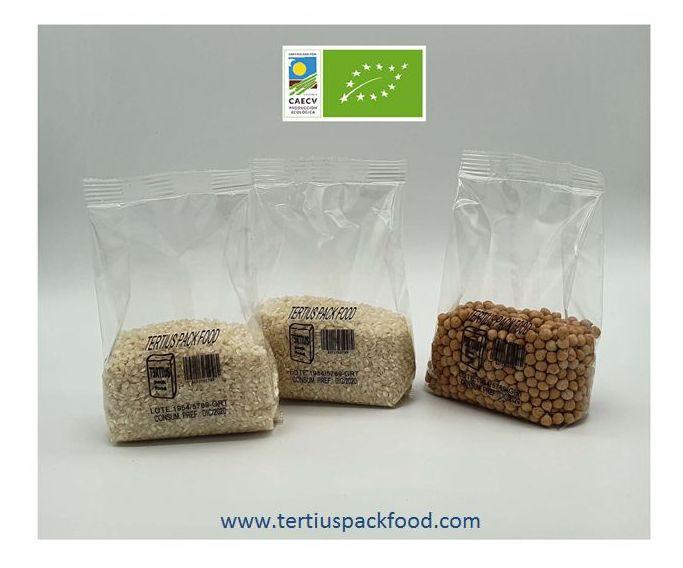 Envasado en formato pequeño de alimentos con/sin atmósfera modificada