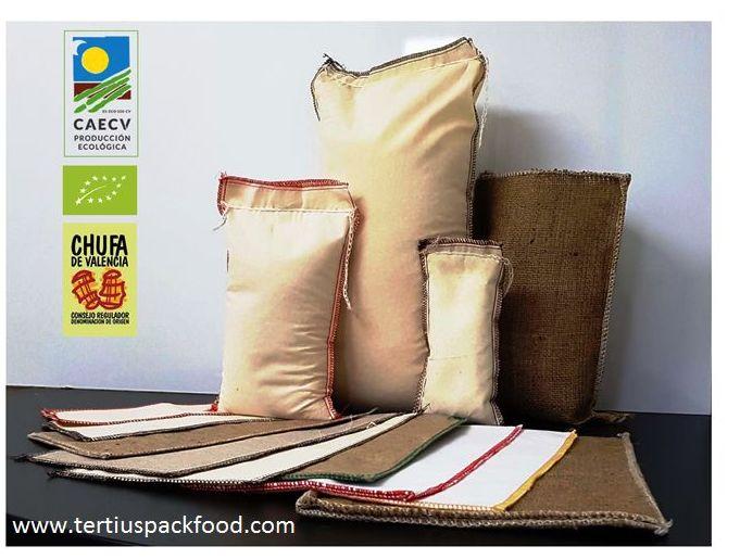 Envase textil en distintos tamaños desde 250 gr