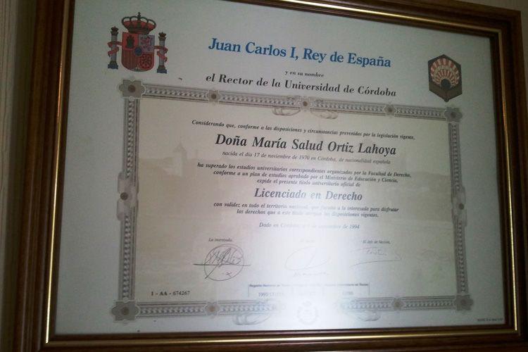 Licenciada en derecho en Córdoba