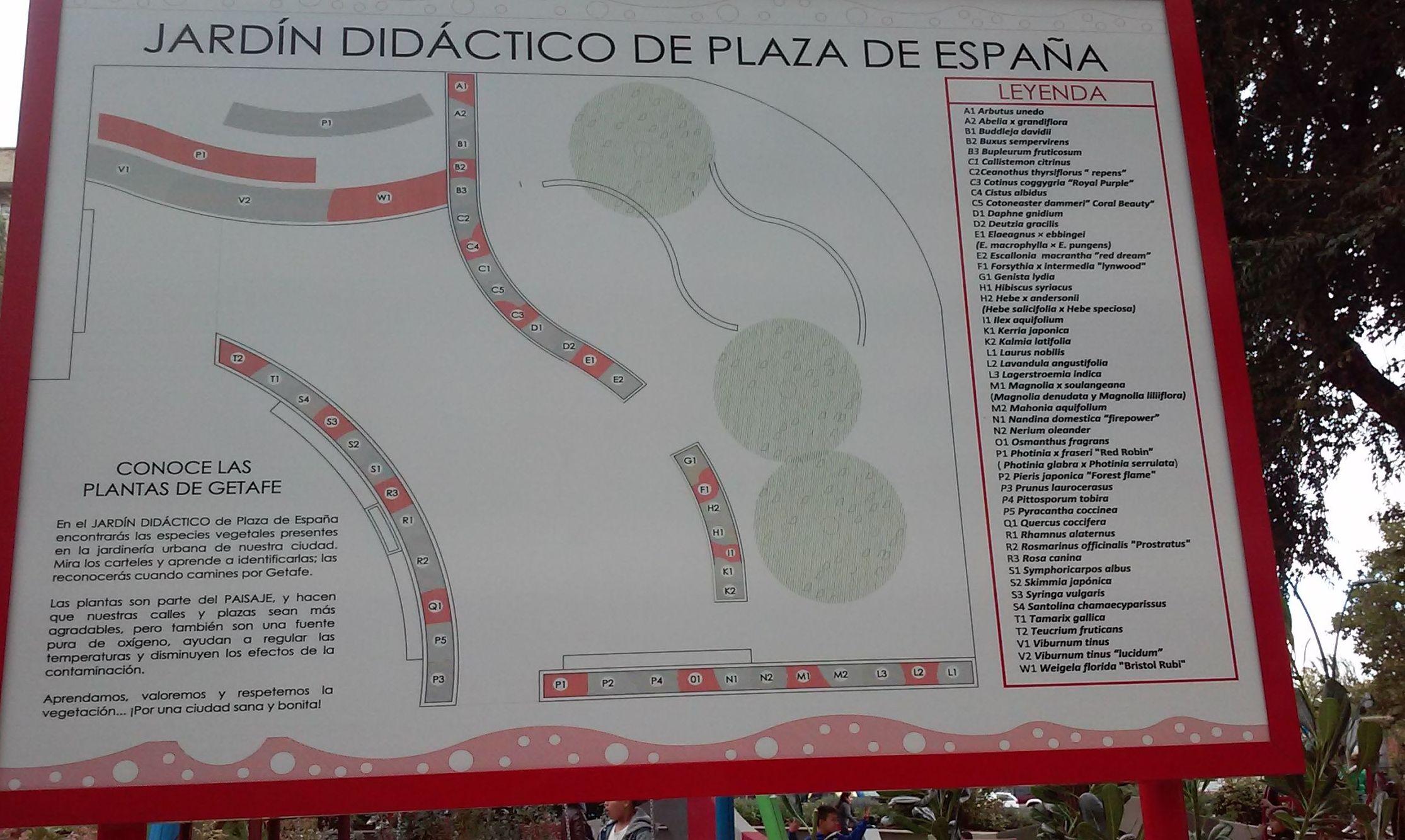 JARDIN DIDACTICO DE PLAZA ESPAÑA ( GETAFE )
