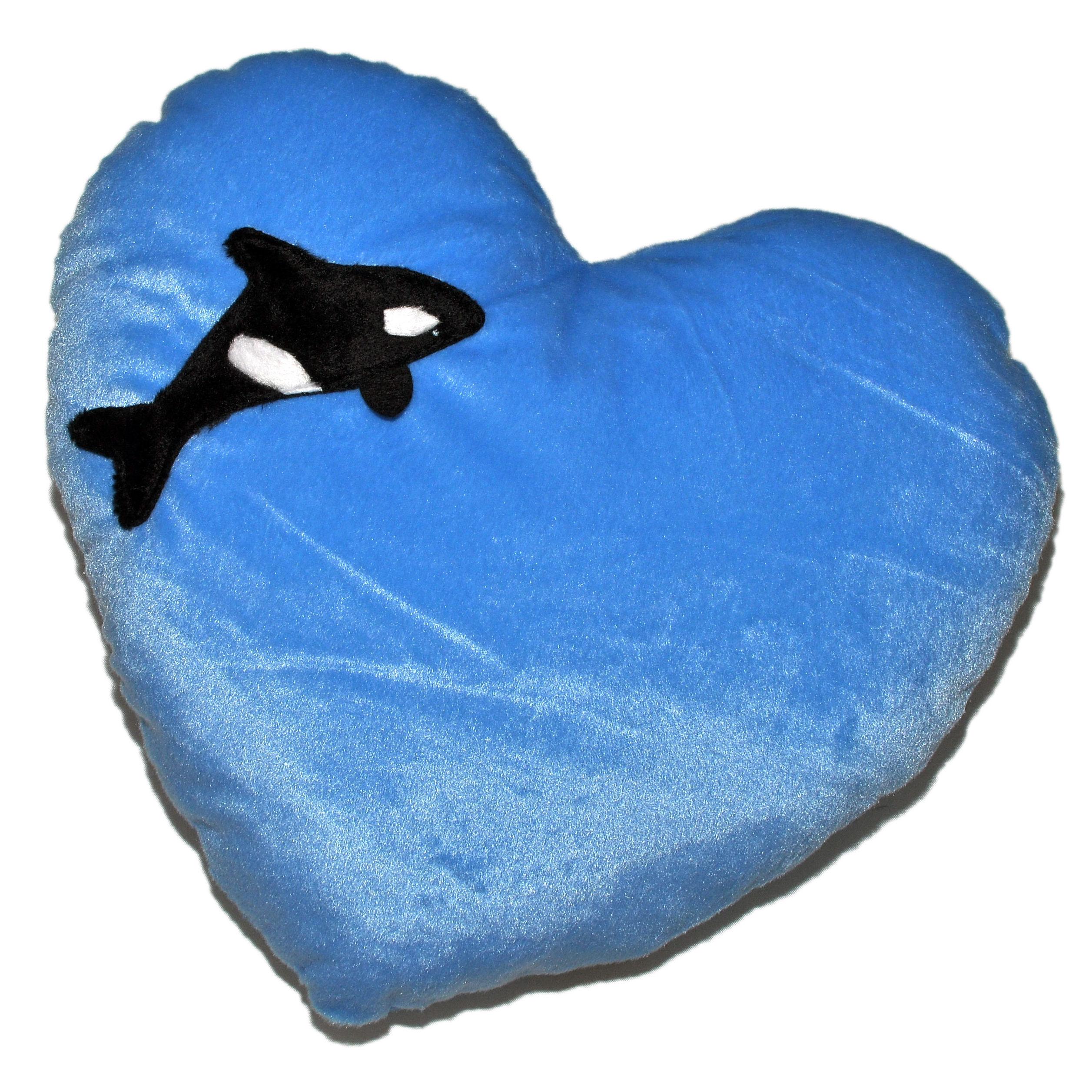 Cojín Corazón Orca / Whale Heart Cushion: Productos de BELLA TRADICION