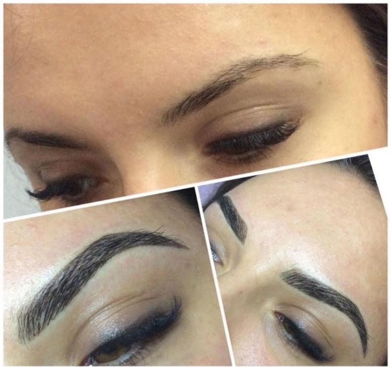 Extensiones de pestañas pelo a pelo efecto pluma