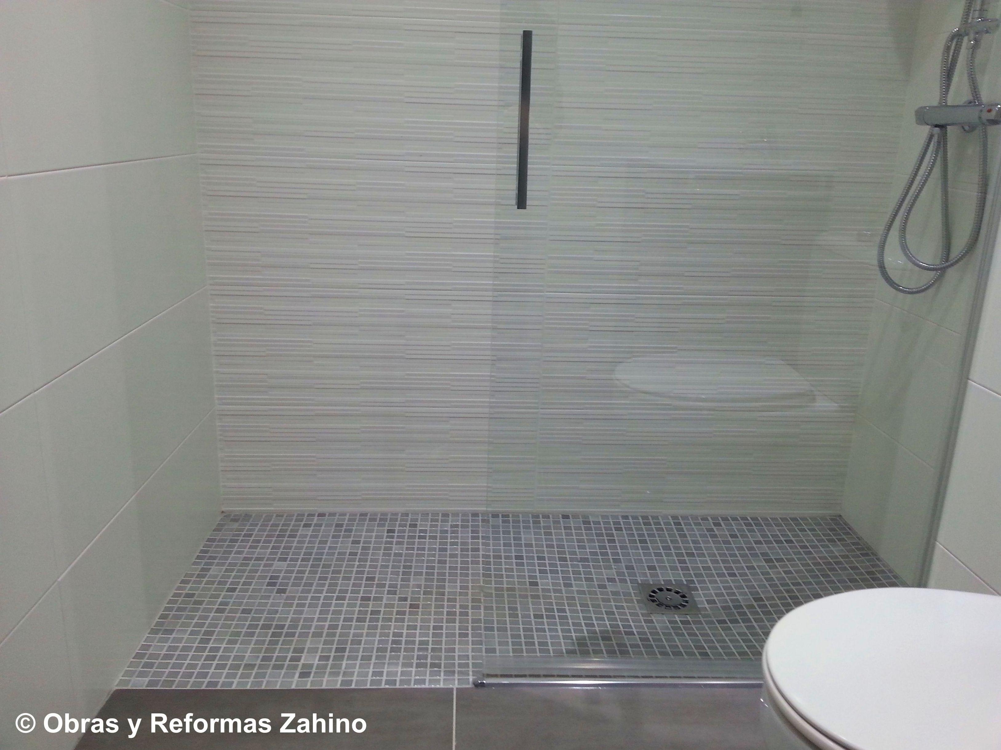 Plato de ducha de obra en gresite servicios de obras y Ideas para duchas de obra