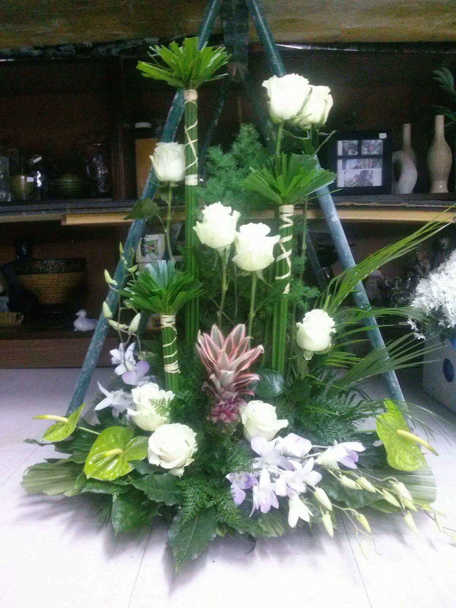 Centros de flores Barro