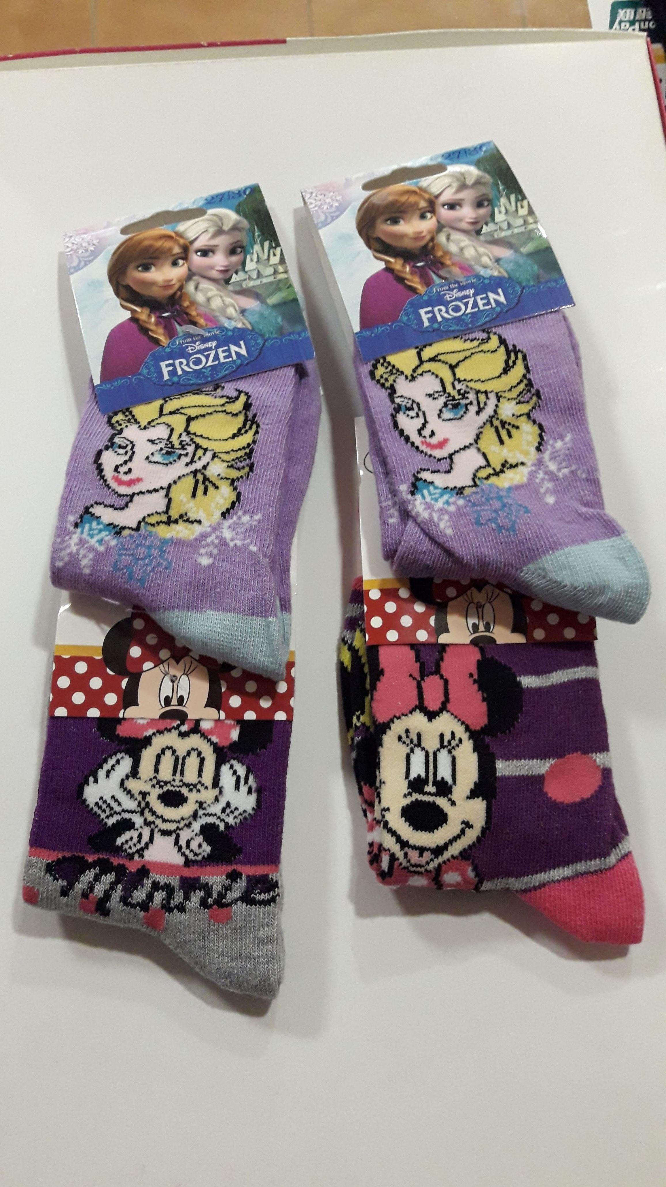 Calcetines Minnie y Frozen