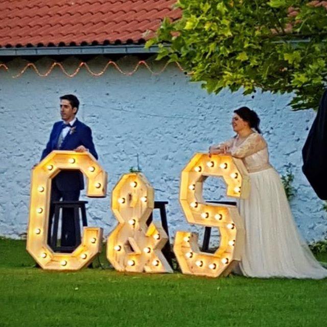 Letras grandes para bodas en Madrid