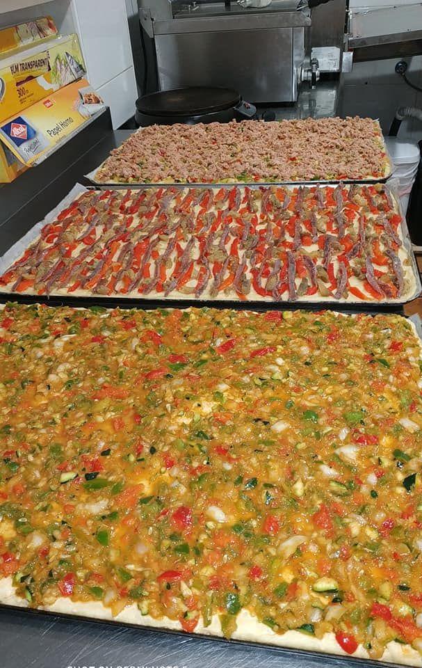 Pizzas hechas a mano