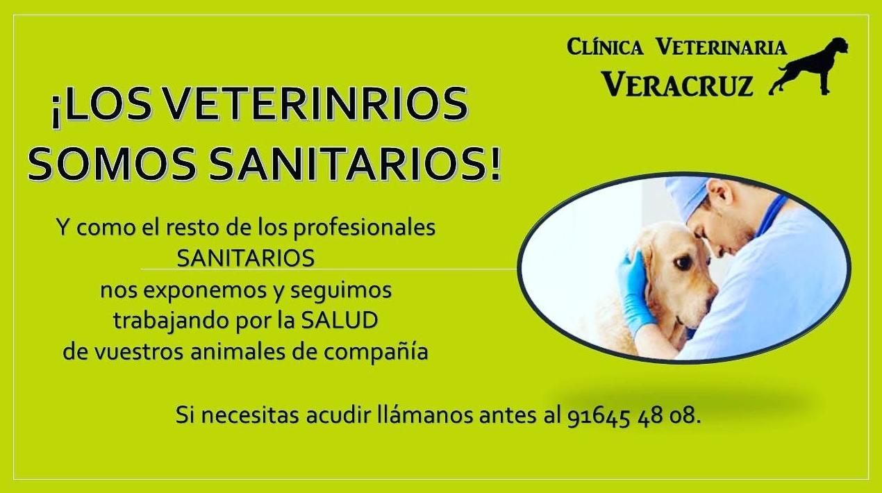 los veterinarios somos sanitarios. Colabora con nosotros!!