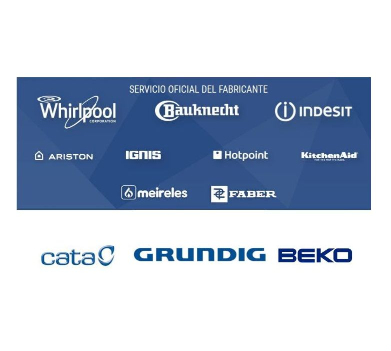 Reparación Servicio oficial del fabricante en Gijón. Whirlpool, Indesit, Beko, Cata, Grundig, Ariston, Bauknecht, Meireles, Faber, KitchenAid, Hotpoint