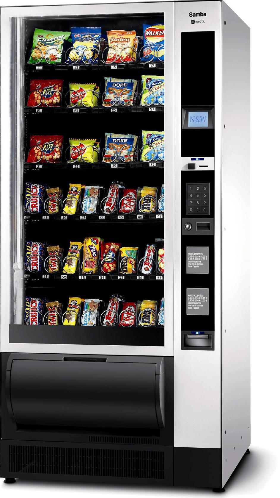 Instalación máquinas de snacks