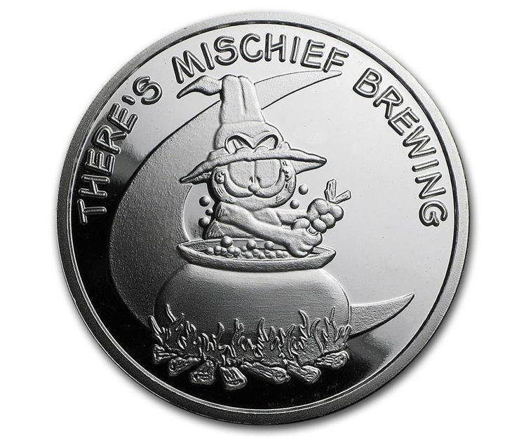 Moneda Halloween with Garfield