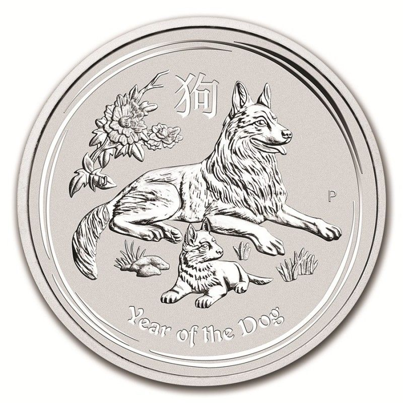 Moneda de plata Year of The Dog - 2018: Productos de LibertyOro