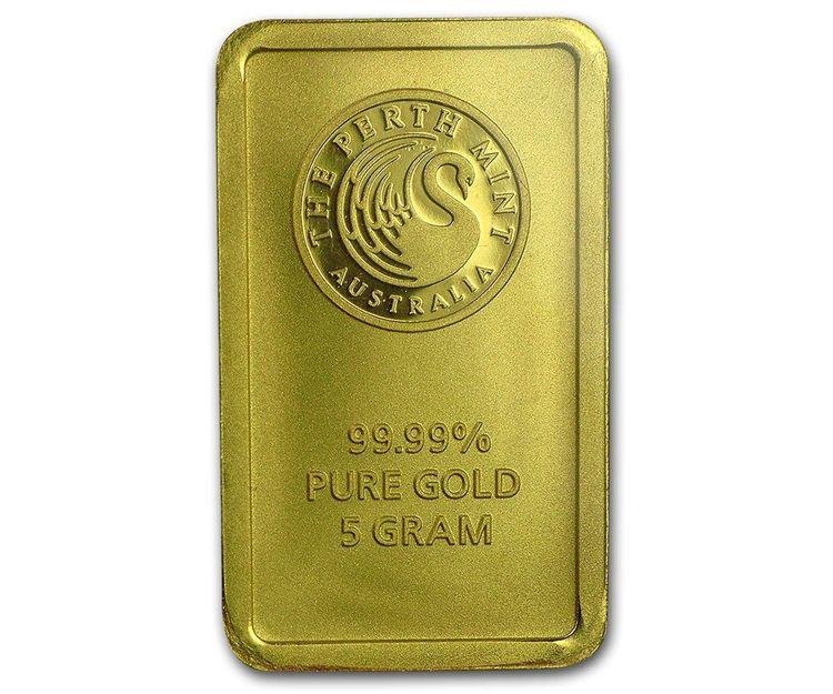 Lingote de oro 5 gramos