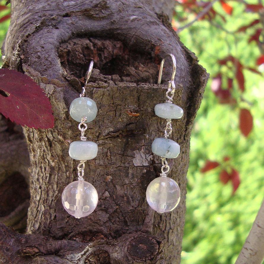 Plata con piedras naturales