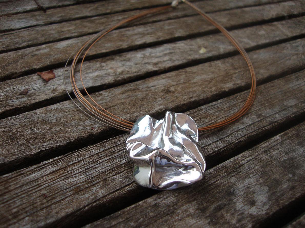 Colgante plata artesana