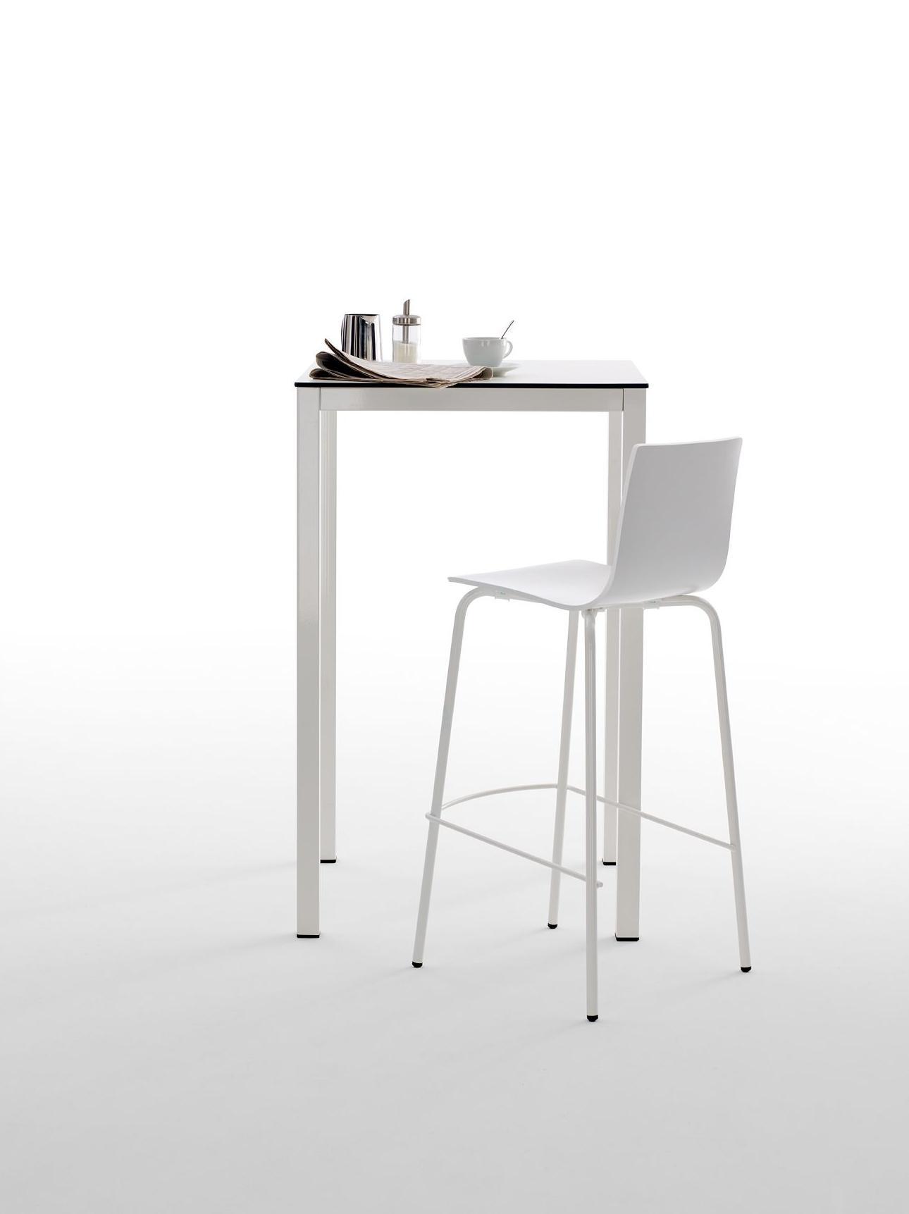 Mobiliario para cafetería color blanco