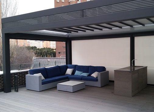 Porches de aluminio para terrazas e Madrid