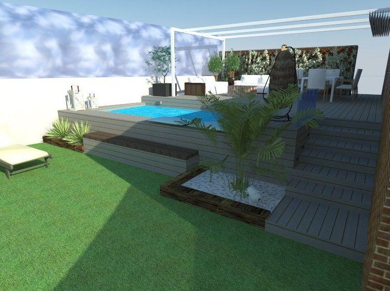 Dise o de exteriores 3d servicios de la patioteca for Diseno jardines exteriores 3d gratis