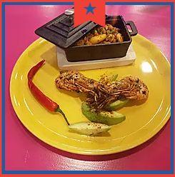 Gambas al chiplote: Carta de Catrina Mexican Grill