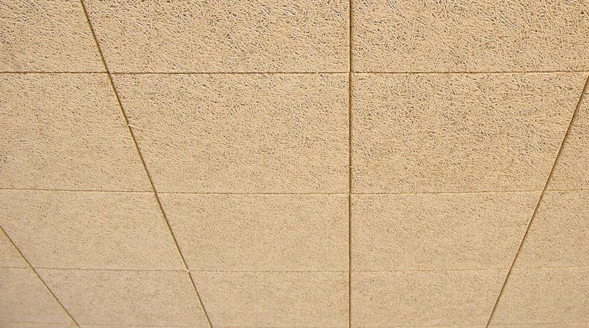 Falso techo de viruta de madera