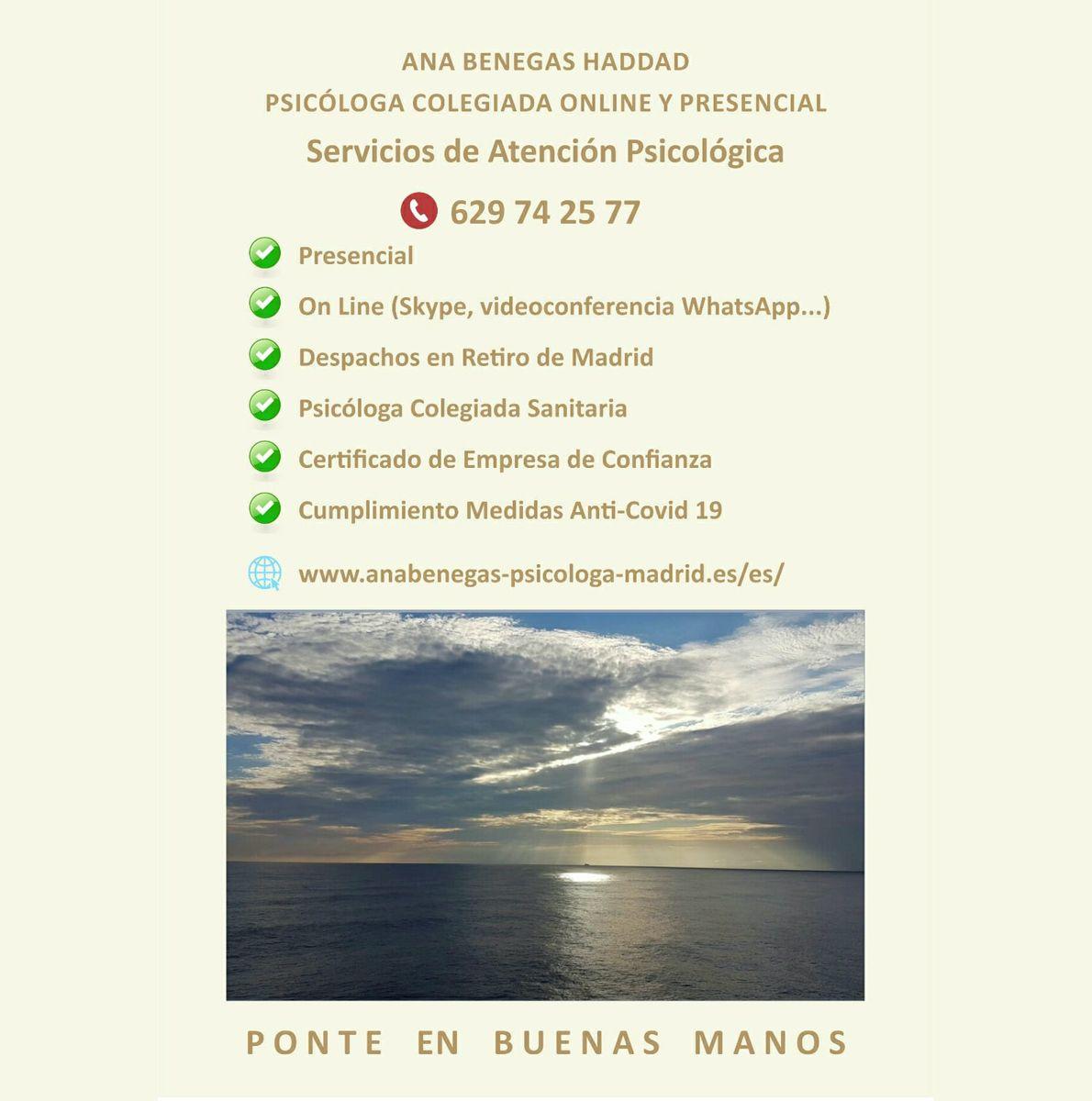 Psicólogo online Retiro (Madrid)