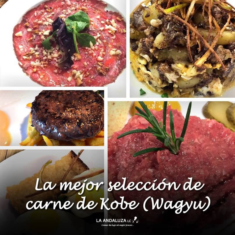 Excelente carne de Kobe: Carta de Restaurante La Andaluza
