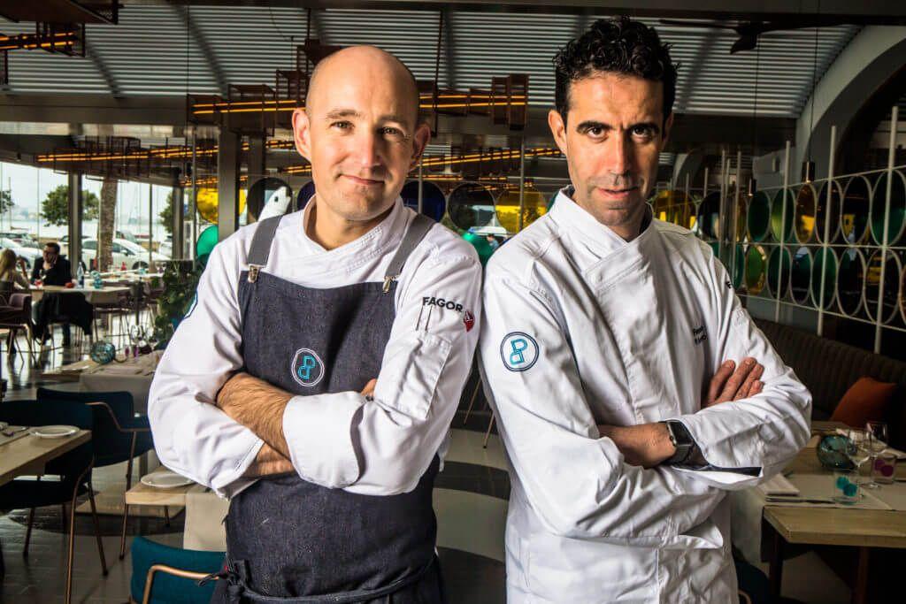 Chefs Fernando P. Arellano and Jérôme Rohmer