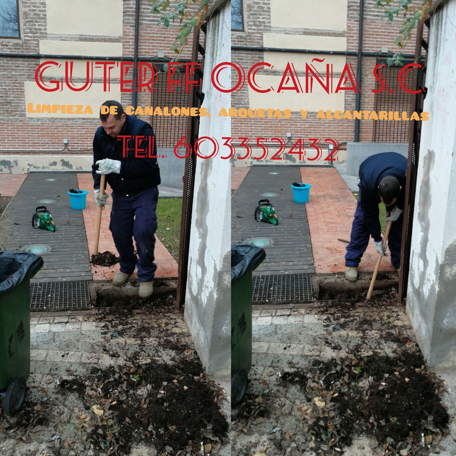 Limpieza de canalones  arquetas y alcantarillas